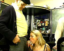 Crazy gangbang with horny papy